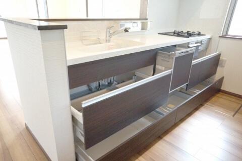 キッチン高さ 引き出し式W480