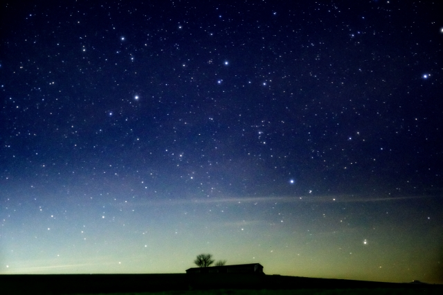 田舎の土地 星空