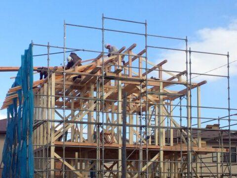 木造建築中