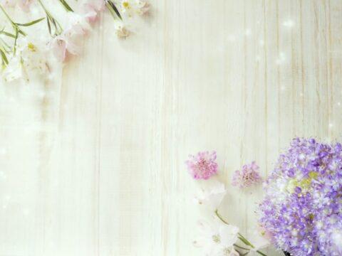 紫とピンクの花-min